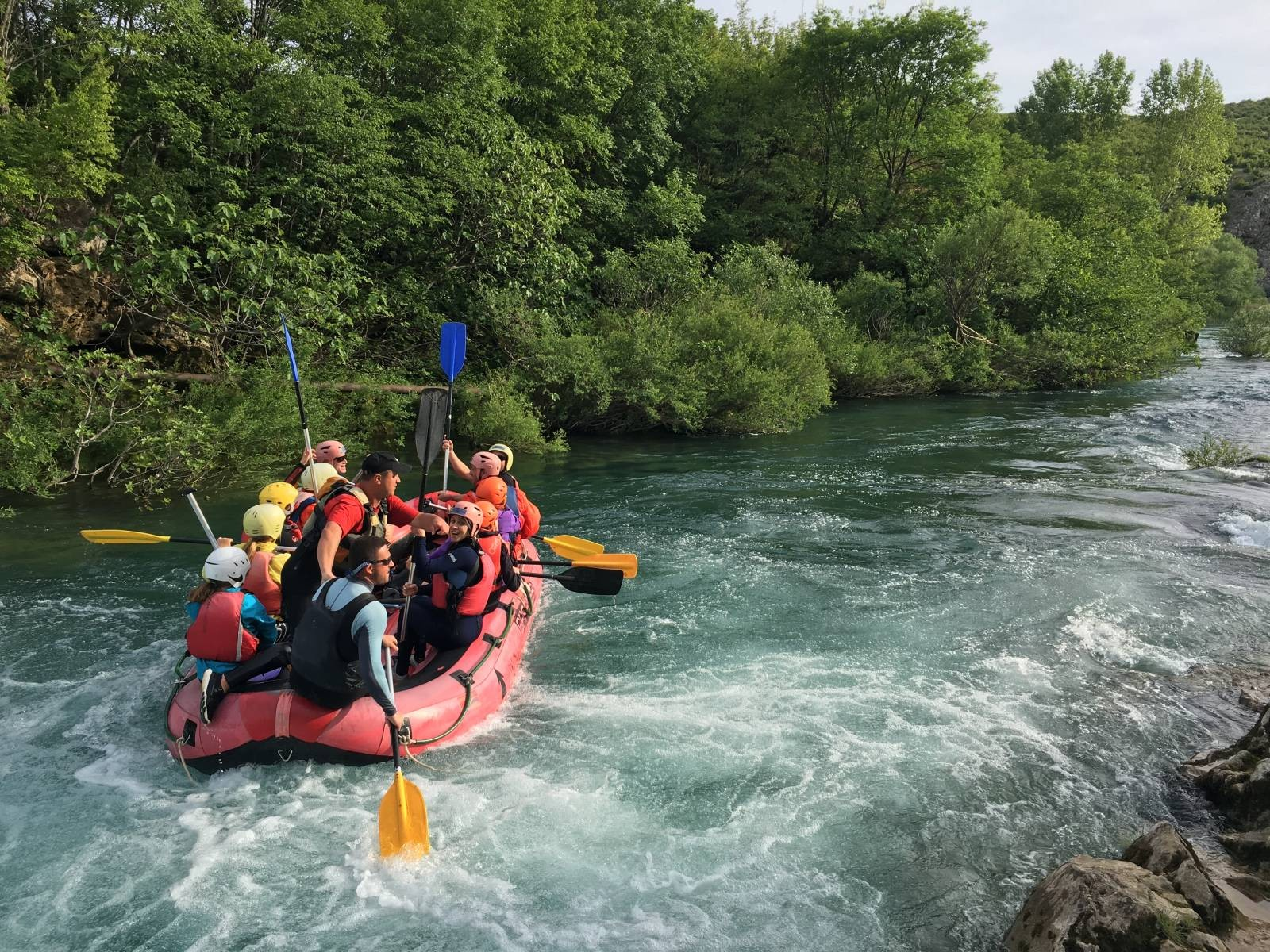 RAFTING at river Zrmanja, Croatia